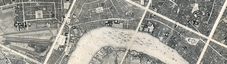 Edited map of London