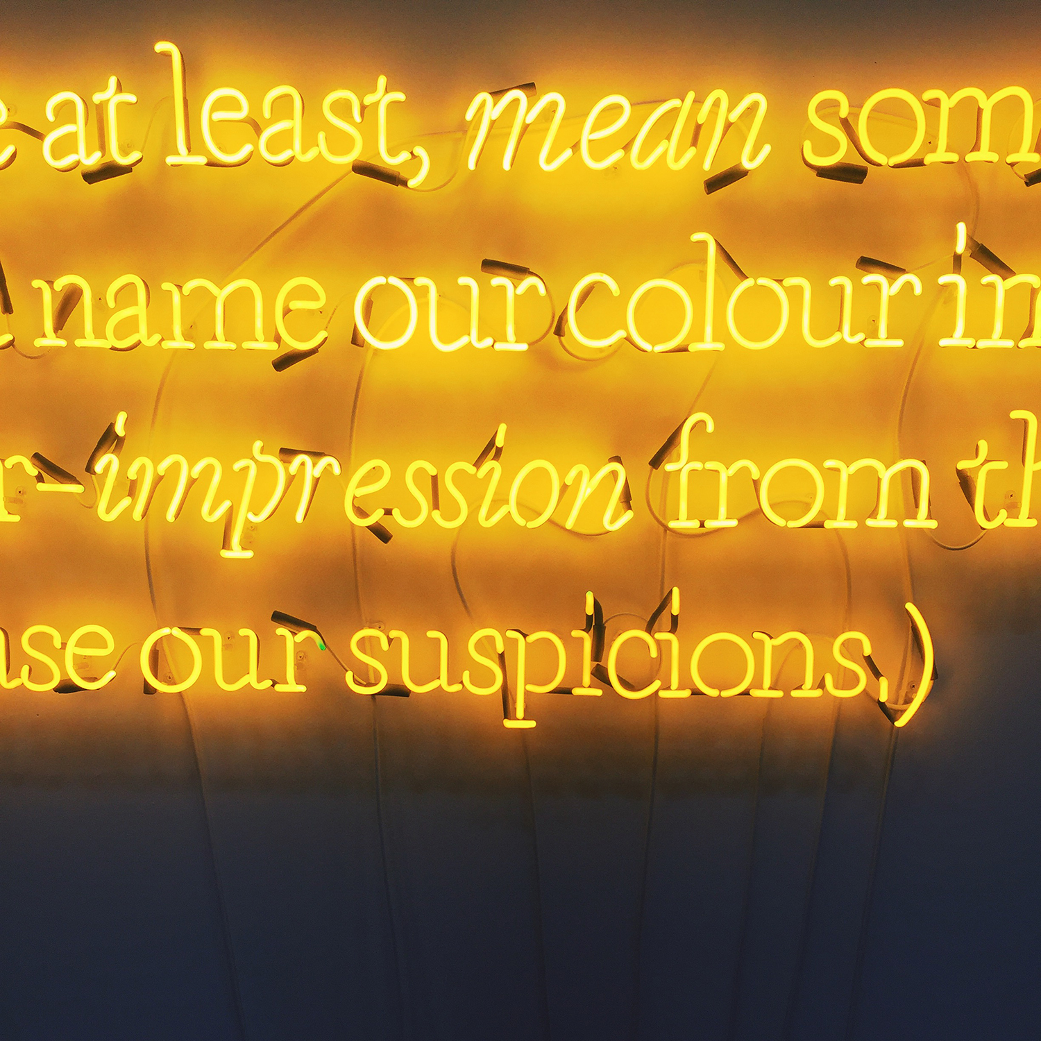 Joseph Kosuth puts Wittgenstein in neon lights