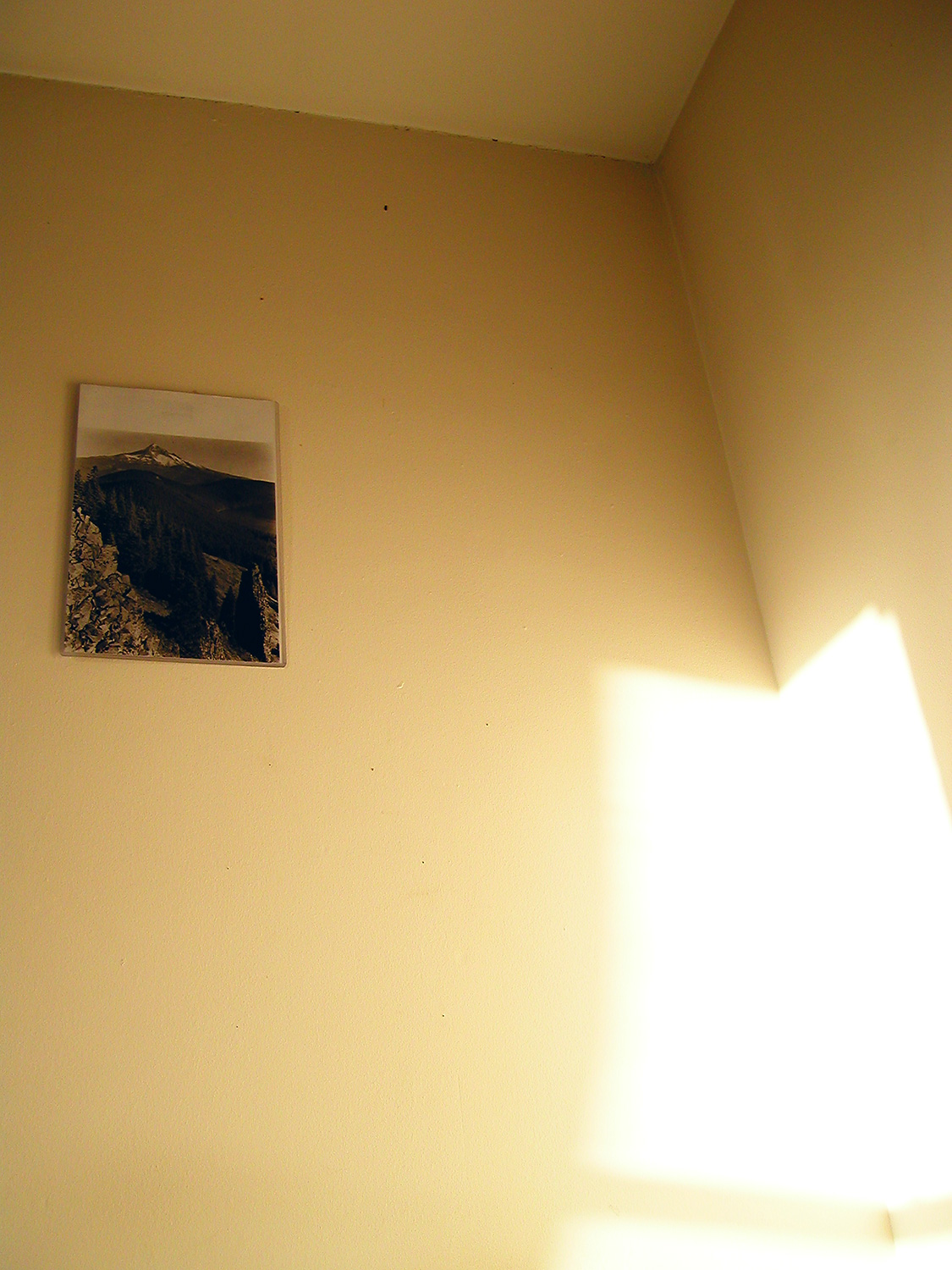 It is a corner, with shadow and light.