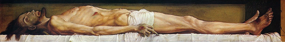 'The Body of the Dead Christ in the Tomb' (1521), by Hans Holbein the Younger