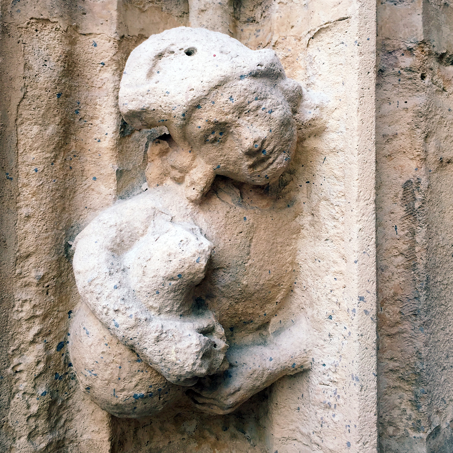 Relief carving from the exterior of of the church of Saint-Merri