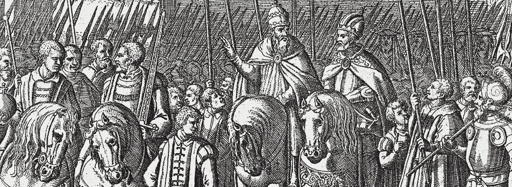 Pope Clement VII meets with Emperor Charles V