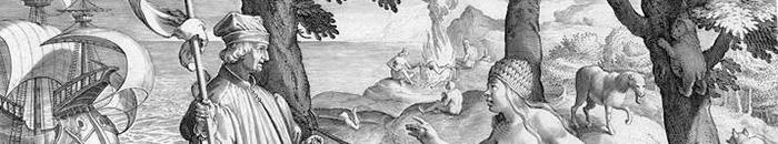 Amerigo Vespucci 'discovering' America