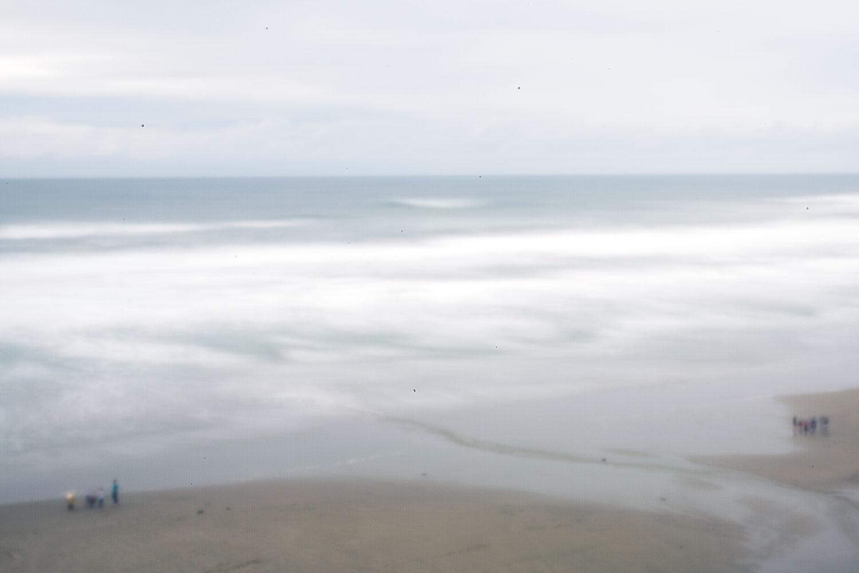Historic Nye Beach through a digital pinhole camera