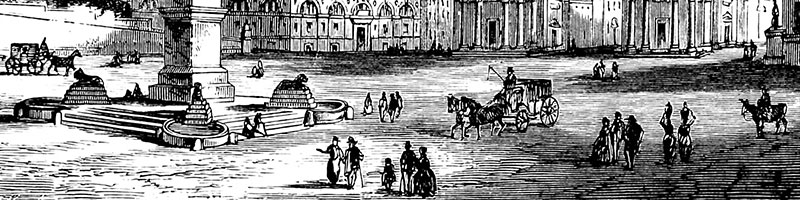 Engraving of the Piazza del Popolo