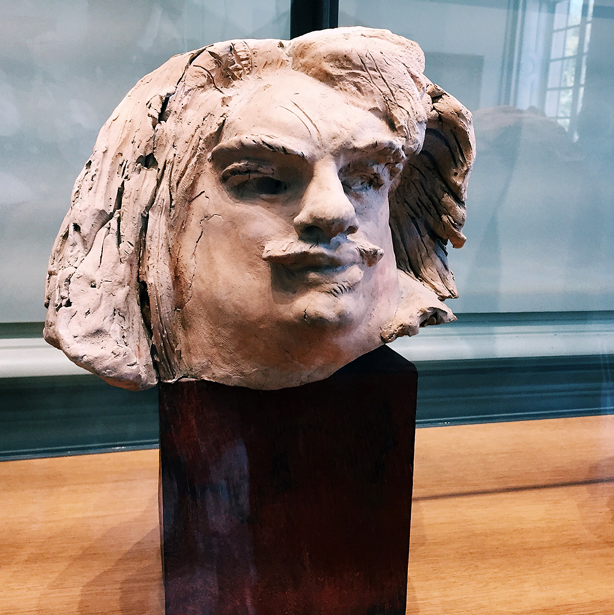Ceramic bust of Balzac by Rodin, from the Rodin museum