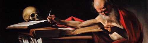 St. Jerome doing a bit of writing.