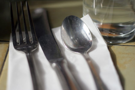 Crave, Seattle, utensils