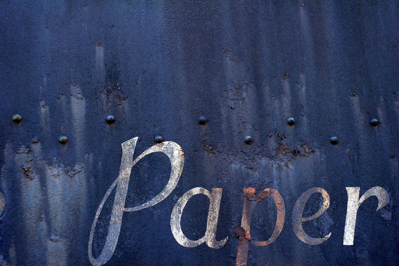 paper, as written on a derelict train car