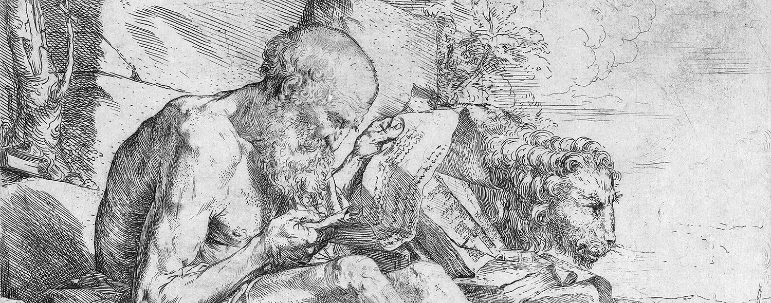 St. Jerome, reading in the fresh air.